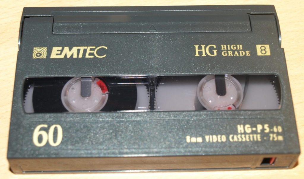 Cassette Vidéo 8 ou Digital 8 ou 8 mn